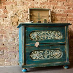Tanacuna Möbel Upcycling Kommode blau2
